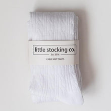 Load image into Gallery viewer, Little Stocking Co. Cable Knit Tights