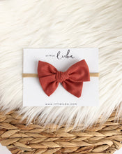Load image into Gallery viewer, Little Luba Sailor Bow Clips