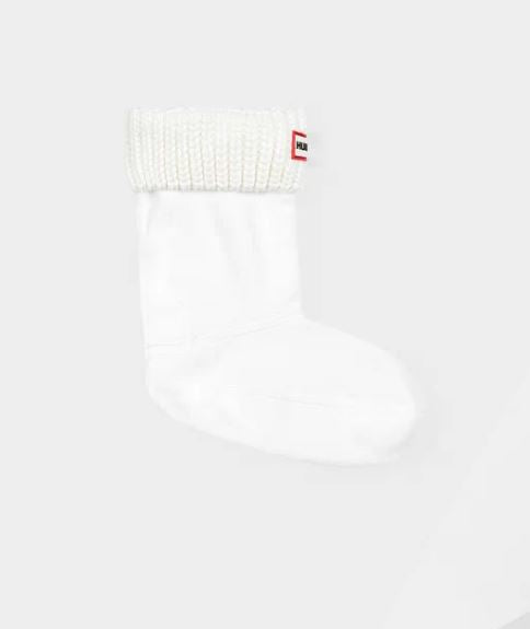 Hunter Original Kids Cable Knit Cuff Boot Socks