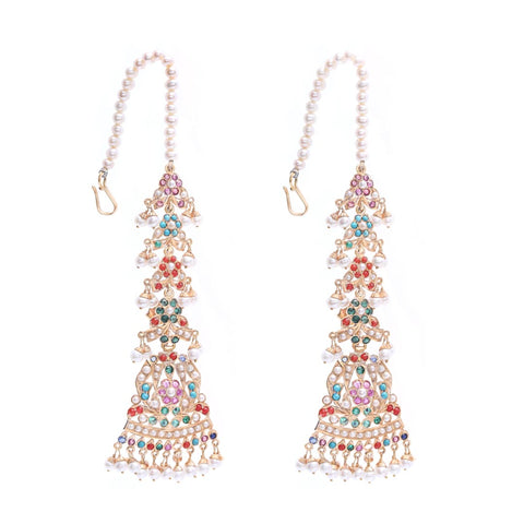 18K MULTI-COLOR STONE EARRINGS (EXCLUSIVE TO PRECIOUS)