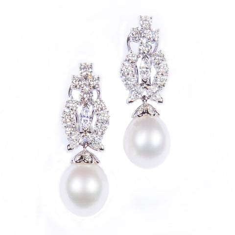 18K PEARL DIAMOND EARRINGS (EXCLUSIVE TO PRECIOUS)