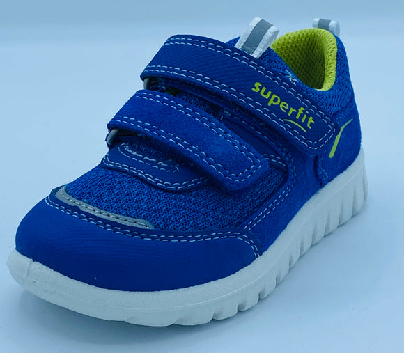 SUPERFIT SPORT7 MINI 1-006194-8010 ROYAL BLUE/GREEN VELCRO TRAINER