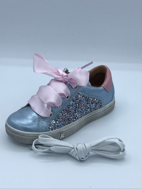 FRODDO 3130141-1 PALE BLUE GLITTER TRAINER SHOE