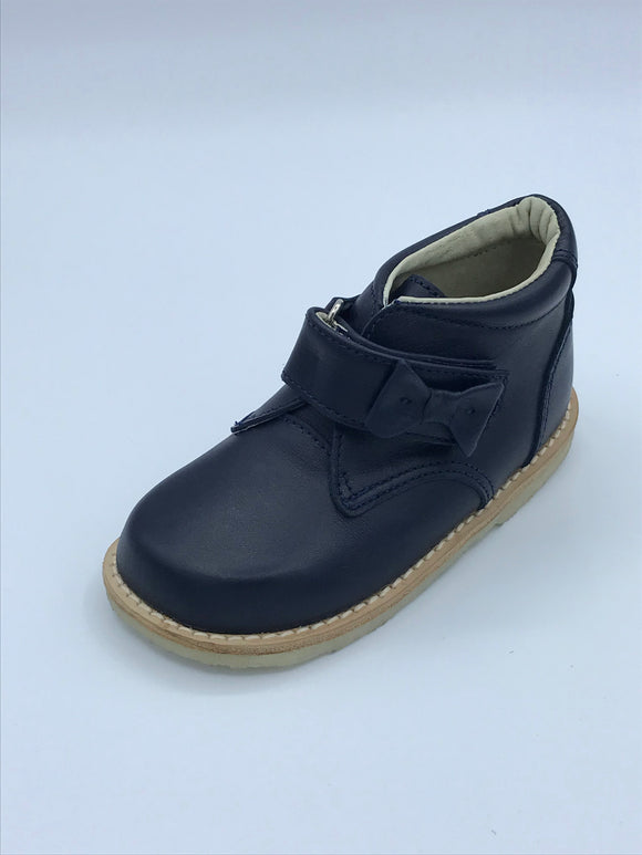 ICKLE SHOOZ BOW BOOT NAVY LEATHER