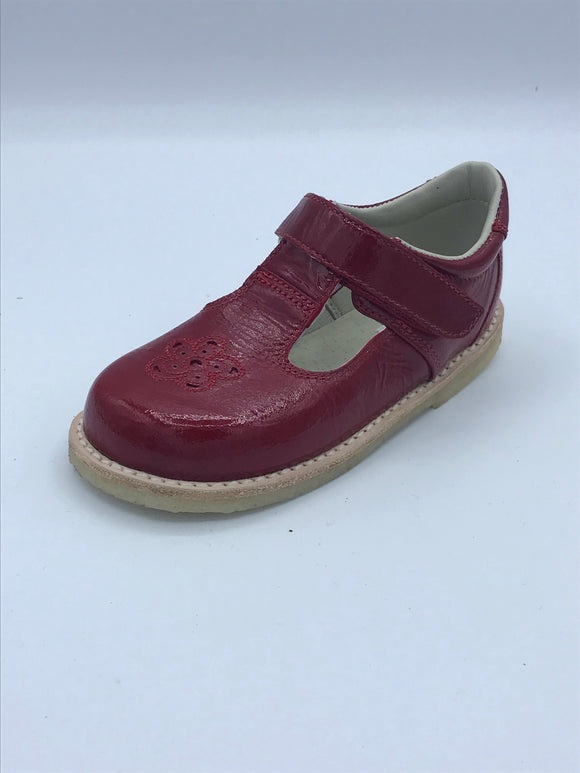 ICKLE SHOOZ ROSE T BAR RED PATENT LEATHER