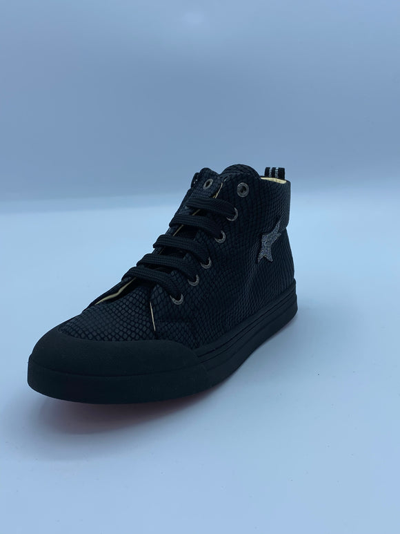 SHOESME BLACK STAR HI TOP
