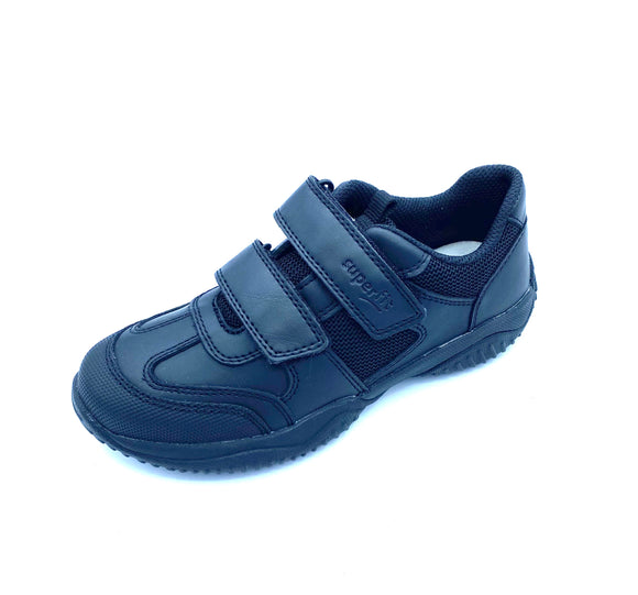SUPERFIT 1-009383-0000 STORM VIPER BLACK LEATHER VELCRO SHOE