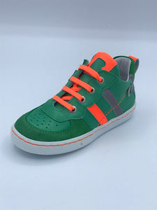 BOBELL GREEN/NEON ORANGE TRAINER