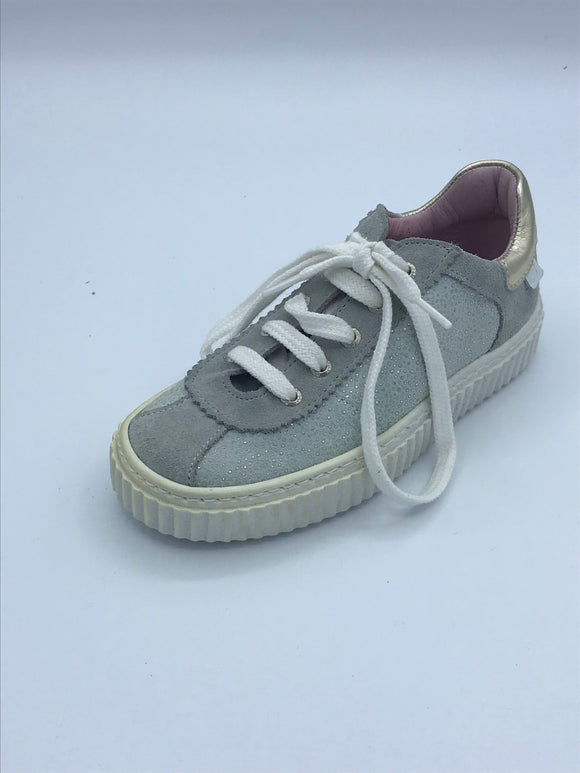 BOBELL GADGETS GREY/SILVER LACE TRAINER