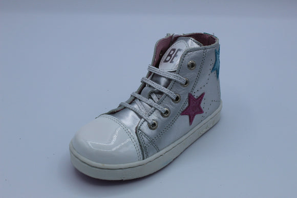 BOBELL FANTAST PATENT WHITE/SILVER STAR HI TOP