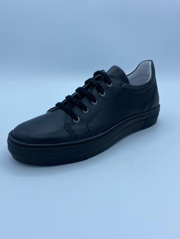 BOBELL OSHO F BLACK LEATHER LACE SHOE