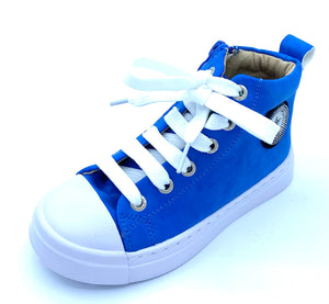 SHOESME BLUE LACE/ZIP HI TOP ON21S008-A