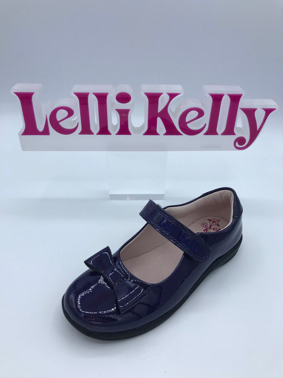 LELLI KELLY LK8206 F PERRIE NAVY BOW MARY JANE