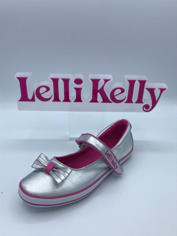 LELLI KELLY LK4310 NEW SPRINT METALLIC SILVER MARY JANE