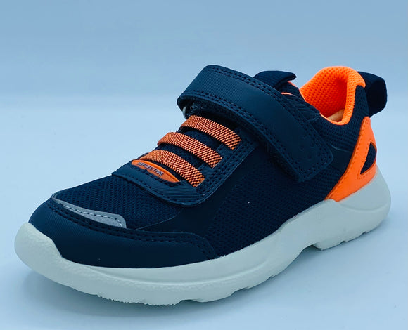 SUPERFIT RUSH 1-000211-8000 NAVY/ORANGE VELCRO TRAINER