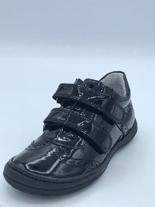 BOBELL OBIONA G BLACK PATENT DOUBLE VELCRO CLOSED SHOE