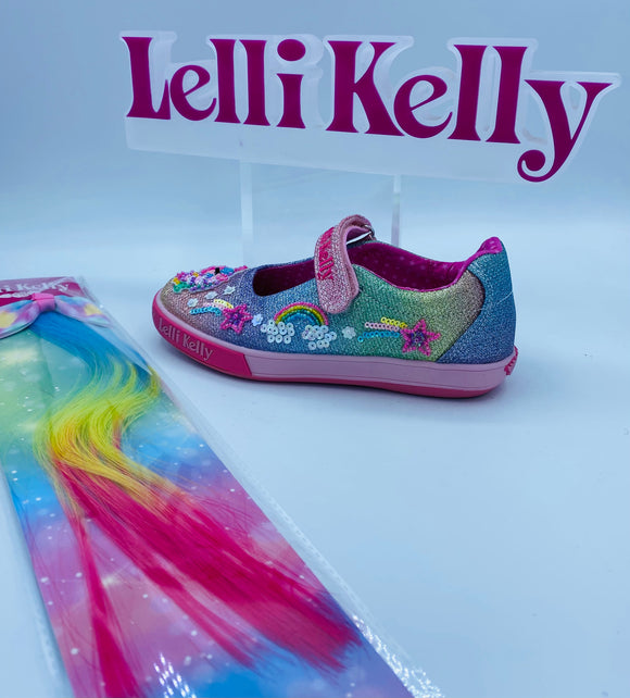 LELLI KELLY LK7076 TREASURE MULTI CANVAS MARY JANE