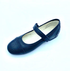 SHOESME BELLA BLACK LEATHER  DAINTY MARY JANE SHOE