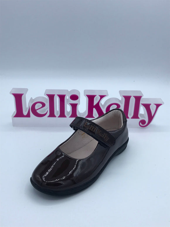 LELLI KELLY LK8218 F CLASSIC BROWN PATENT MARY JANE