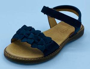 FRODDO 3150181-7 DARK BLUE LORE FLOWERS STRAPPY SANDAL