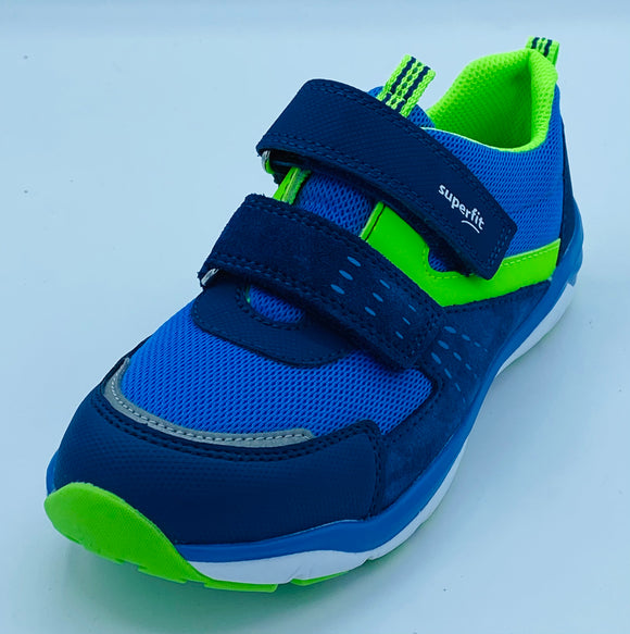 SUPERFIT SPORTS 1-000245-8000 BLUE/GREEN VELCRO TRAINER