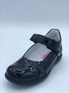 BOBELL ORINDA G BLACK PATENT FLOWER MARY JANE SHOE
