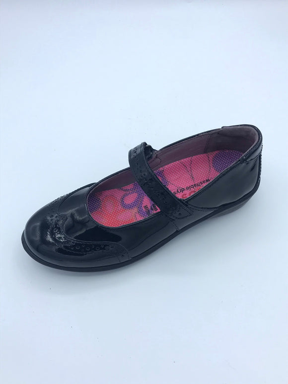 RICOSTA BECKY BLACK PATENT LEATHER MARY JANE