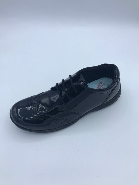 TERM SUMMER BLACK PATENT BROGUE LACE