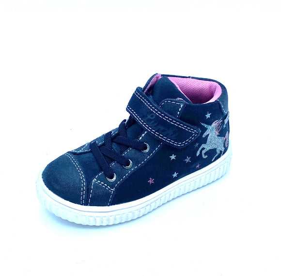 LURCHI YUNA TEX ATLANTIC NAVY HI TOP  33-37000-22