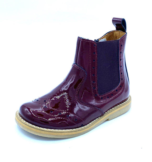 FRODDO 3160119-11 BORDEAUX PATENT CHELSEA ANKLE BOOT