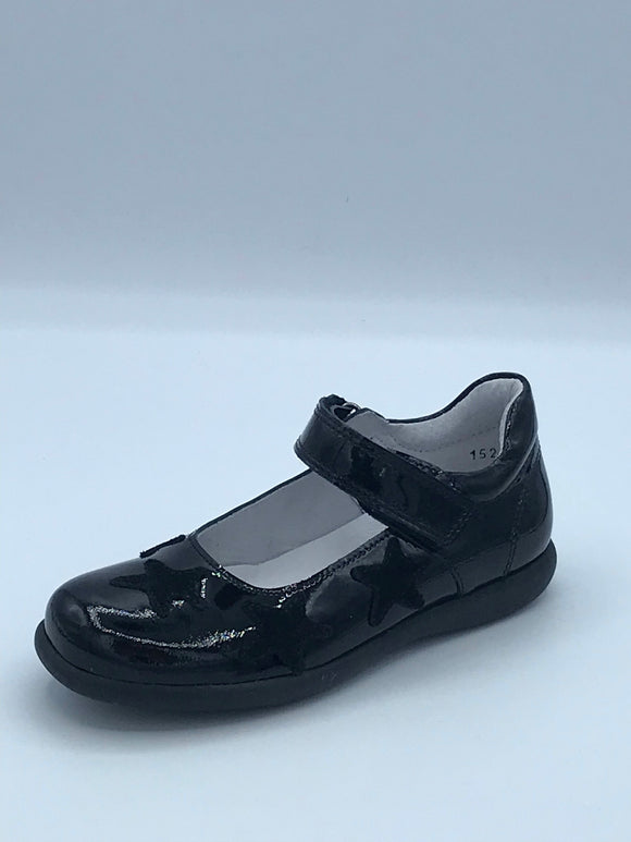 BOBELL OYSTER2 D BLACK PATENT STAR MARY JANE SHOE