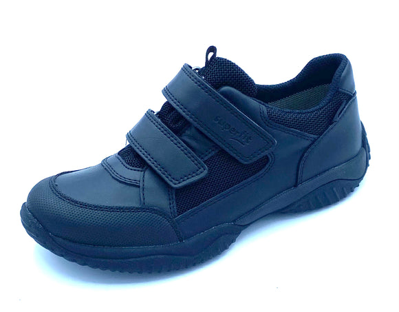 SUPERFIT 1-009382-0000 NEW STORM BLACK LEATHER GORETEX VELCRO SHOE