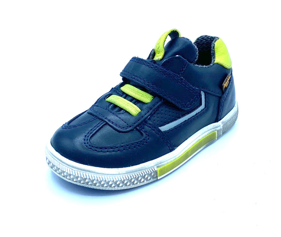 FRODDO 3130153-1 NAVY/LIME TEX TRAINER SHOE