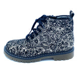 BOPY SIGFLO BLACK GLITTER FLORAL LACE ANKLE BOOT