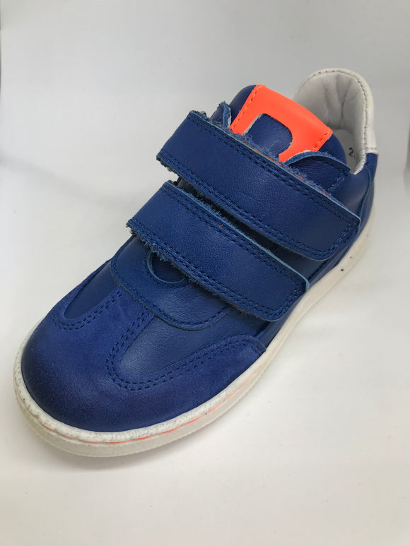 BOBELL LONDON ROYAL BLUE/ NEON ORANGE TRAINER