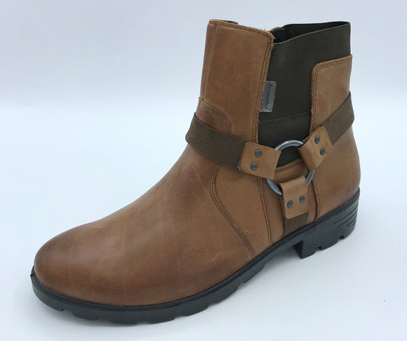 RICOSTA RIEKA COGNAC BROWN BUCKLE ANKLE BOOT