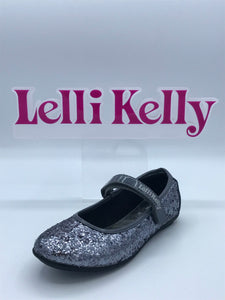 LELLI KELLY LK8262 ADELE PEWTER SILVER GLITTER MARY JANE