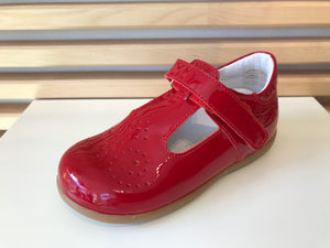 BOBELL TOTO RED PATENT T BAR