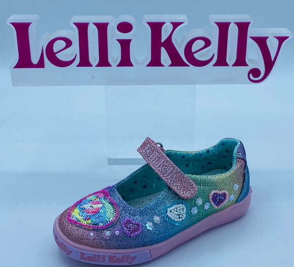 LELLI KELLY LK7072 GEM UNICORN MULTI CANVAS MARY JANE
