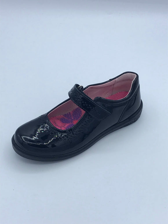 RICOSTA LILLIA BLACK  PATENT MARY JANE