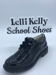 LELLI KELLY LK8272 KARA BLACK PATENT BROGUE LACE