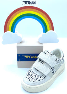 GOLA CREME/ANIMAL PRINT VELCRO TRAINER