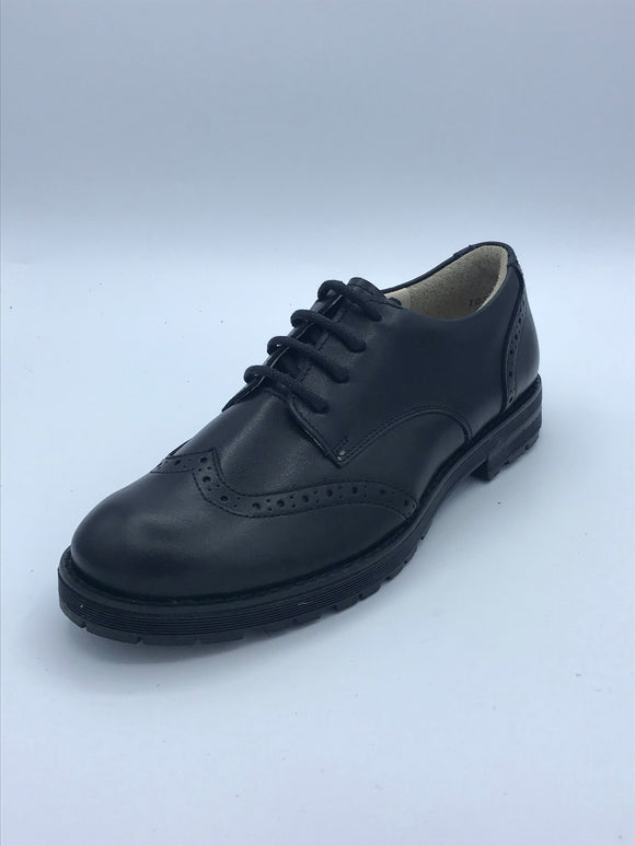 FRODDO 4130069 BLACK LEATHER BROGUE LACE SHOE