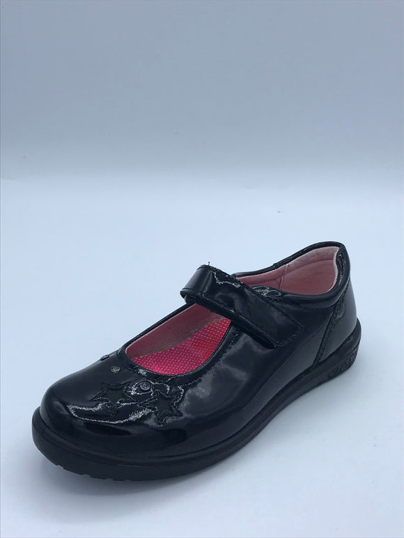 RICOSTA LYLA BLACK  PATENT MARY JANE