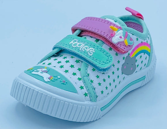 PODLERS UNICORN VELCRO CANVAS TRAINER