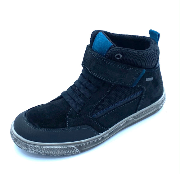 SUPERFIT LUKE 1-009200-0000 BLACK/BLUE GORETEX ANKLE BOOT