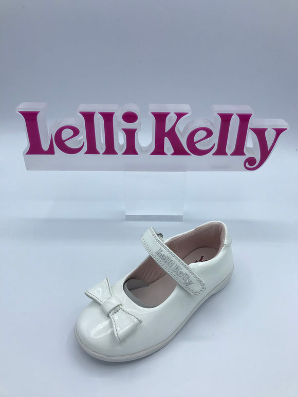 LELLI KELLY LK9764 SARAH WHITE PATENT BOW MARY JANE