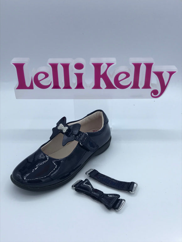 LELLI KELLY LK8300 F CHARLOTTE NAVY PATENT MARY JANE