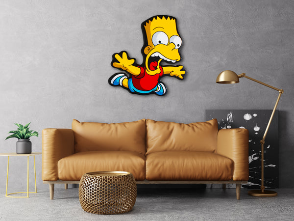 Bart Falling Art Hanging Idea