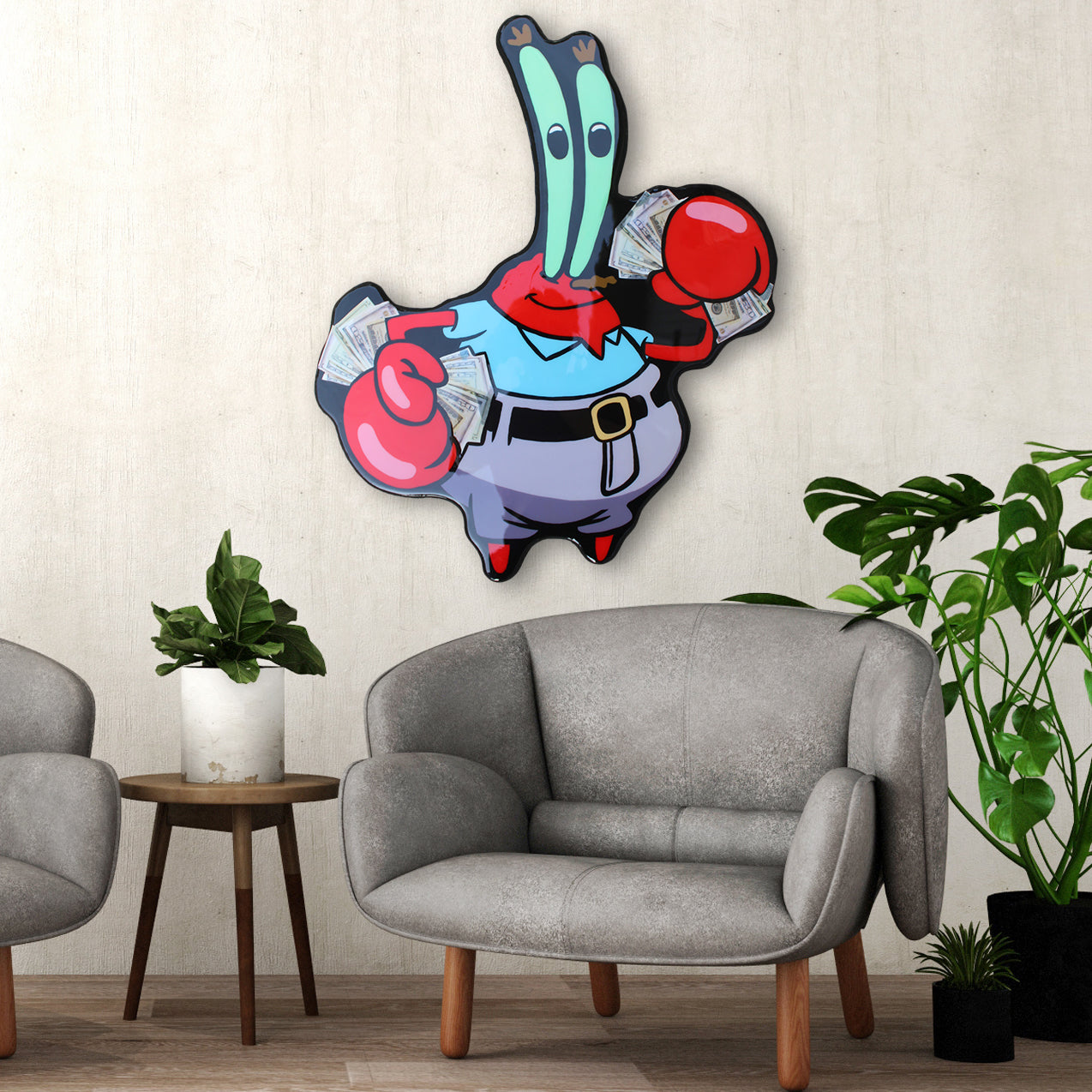 Mr. Krabs Cash Money Art
